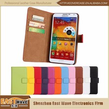 Leather Flip Wallet Case for Samsung Galaxy Mobile Phones Mix Different Models in One Order