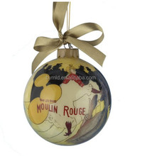 2015 High quailty hand painting christmas ornament ball
