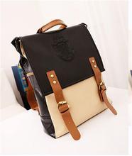 fashion floral printed canvas backpack bag for girls elementary student school bag korean backpack bag