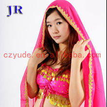 Arabic chiffon women Belly dance head veil P-9013#