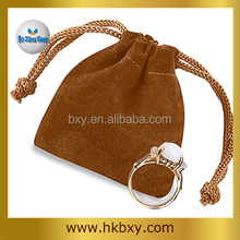 4 different colors Suede Ring Pouches, High quality Suede Bags for Wedding Rings