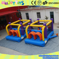 Commercial bouncy castles obstacle course