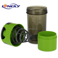 16oz BPA FREE protein plastic cyclone shaker cup