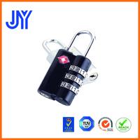 2015 new high quality 3 digit luggage cheap zine alloy TSA padlock