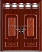 Tradition Tack Mahogany Oak Double Main Wooden Enter Doors for Villa
