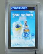 customized size acrylic light box LED crystal advertising poster