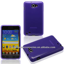Purple cellphone accessory For Samsung Galaxy Note i9220 Gel TPU Case Cover