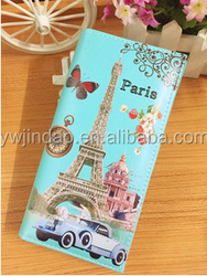 Scrawl Printed European Purse Wallets for Ladies Girl Women