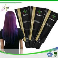 Natural purple hair dye /colorful crazy polishing semi permanant hair color