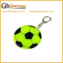 Cheap PVC Reflective Soccer Keychain