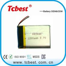 High quality 3.7v 1100mah rechargeable li-polymer battery