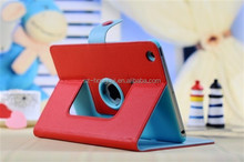 Red Rotating leather case for ipad mini, for ipad mini 2 leather case, smart case for ipad mini 2 HH-IPM05(12)