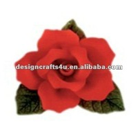 red rose handpainted porcelain flowers for crafts