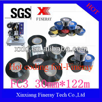 30mm*122m hot coding foils for printing date,batch on the package of drug