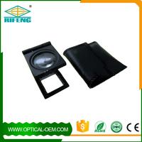 mini 8x 22mm black plastic folding linen tester magnifier with scale