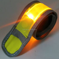 Soccer Captain Safety Armband LED Slap Wrap Walking Running Cycling Reflective Flashing Light