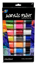 Best Selling 24*20ml Non-toxic Wholesale Acrylic Paint Sets Cheap Portable Kids&Artists
