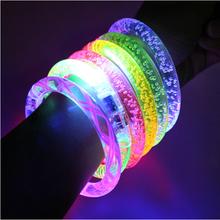 Hot Sale Glowing Bracelet LED lights Flash Bracelet Wrist Ring Nocturnal Warnings Ring Running Gear Glowing Armband 10pcs/lot
