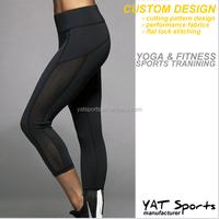 workout pants Fitness apparel sexy mesh panel custom women yoga fitness leggings