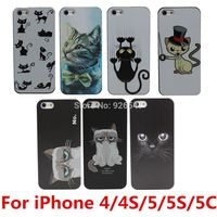 Grumpy Cute Cat PC Hard Case Cover for Apple i Phone iPhone 4 4S 4G 5 5S 5G 5C Free Shipping
