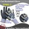 Corte guantes resistentes a/tpr de la punción y corte guantes resistentes