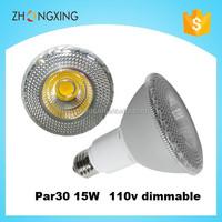 cob led par30 15w 110v 1450lm dimmable flood bulb