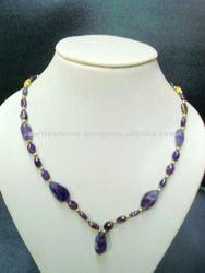 Natural Amethyst gemstone necklace
