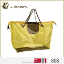 2015 clear PVC bag with zipper, PVC blanket beach bag