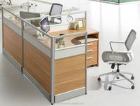 T shape office partition desk/workstation