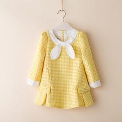 ta1810 latest design autumn winter polka dots printed cute children dresses