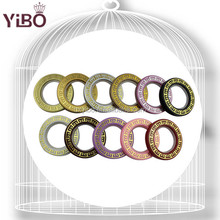 ABS curtain eyelet ring for luxury design embroidery window curtain fabric