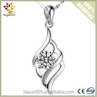 New Arrival Angel Wing Sterling Silver 925 Pendant,Rhodium Plated Silver Wedding Pendant,Woman Curves Silver Pendant Jewelry