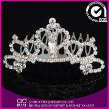 2015 lastest hot selling shining queen crown for kids in good price YC-21220