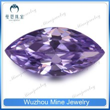 Amethyst color marquise cut rough jewelry stone