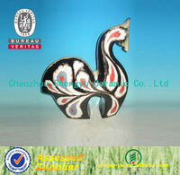 2014 home decoration craft abstract ceramic horse