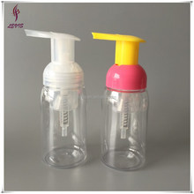 Cosmetic empty round 150ml PET foam pump bottle