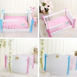 Lovable Solid Wood Pet Bed Dog Bed Wholesale Furniture Dog Accessories Pets Supplies
