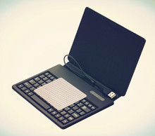 PU Leather tablet cover case with silicone keyboard use for 7 inch Tablet PC