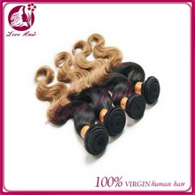 Malaysian Ombre Hair Extensions Body Wave Two Tone Human Hair Weave Mix 3pcs Body Wave Ombre Hair Human Weave
