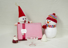 50ml to 400ml Christmas package painting glass Disposable fruit salad cup with package wholesale