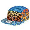 2015 fashionable custom leopard printing 5 panel cap hat/camp hat