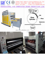 chain feeding 2 color flexo printing and slotting machine for carton box manufacturer CE & ISO9001
