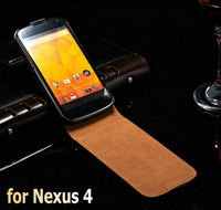 Genuine Leather Wallet Stand Case For LG Google Nexus 4 E960 Phone Bag Cover Flip Style