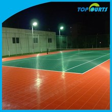 Coefficient of sliding friction:0.54 outdoor tennis court plastic floor tile