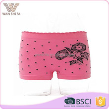 Lady hipsters nylon oem comfortable flower pattern seamless sexy girl panty