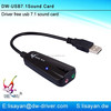 Driver free usb 2.0 sound card adapter with cmi108 chip