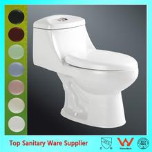 New design high quality flush type water one-piece closet