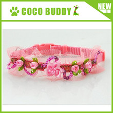 Pretty flower collar for cat/dog girl princess dog collar with mesh handmade flower on sale