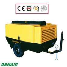 Industrial oil-injected diesel screw mobile compressor