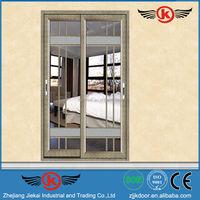 JK-AW9129 porcelain design glass sliding door/retractable interior doors